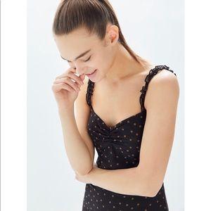 Nadia Ruffle Trim Slip Dress